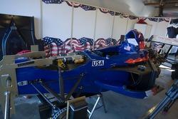 Le garage de l'équipe Team USA