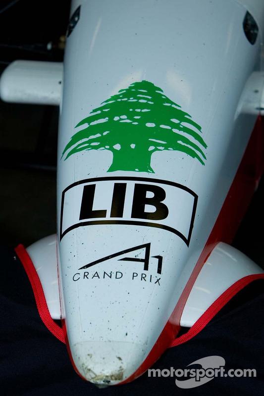Détail de la voiture de l'équipe du Liban
