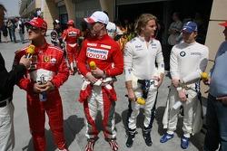 Michael Schumacher, Ralf Schumacher, Nico Rosberg and Nick Heidfeld