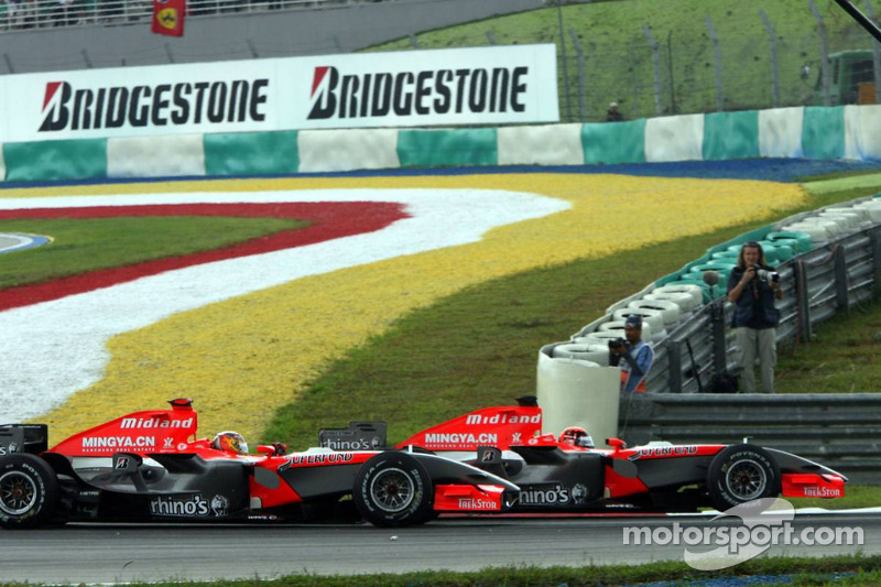 Start: Tiago Monteiro and Christijan Albers