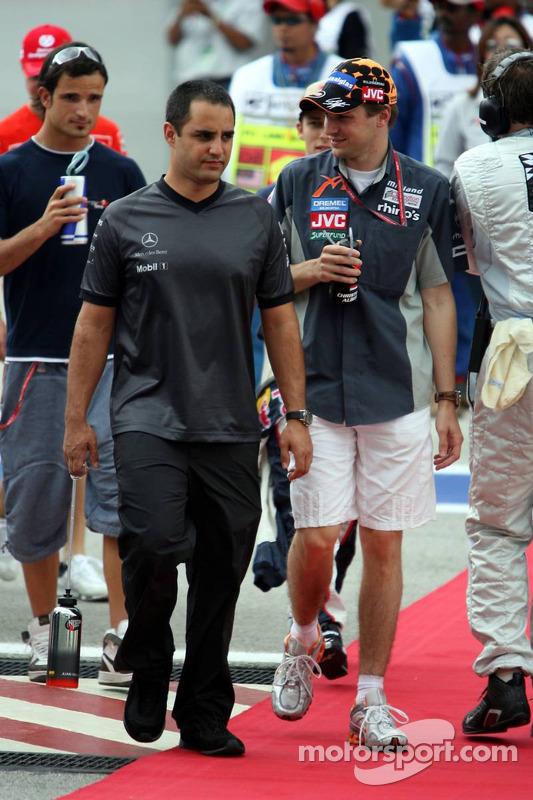 Juan Pablo Montoya and Christijan Albers