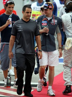 Juan Pablo Montoya and Christijan Albers