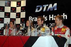 Vanina Ickx, Audi; Susie Stoddart, Mercedes; Jamie Green, Mercedes; Mattias Ekström, Audi