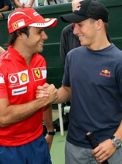 Pitstop tennis Pro-Am charity event: Felipe Massa and Christian Klien