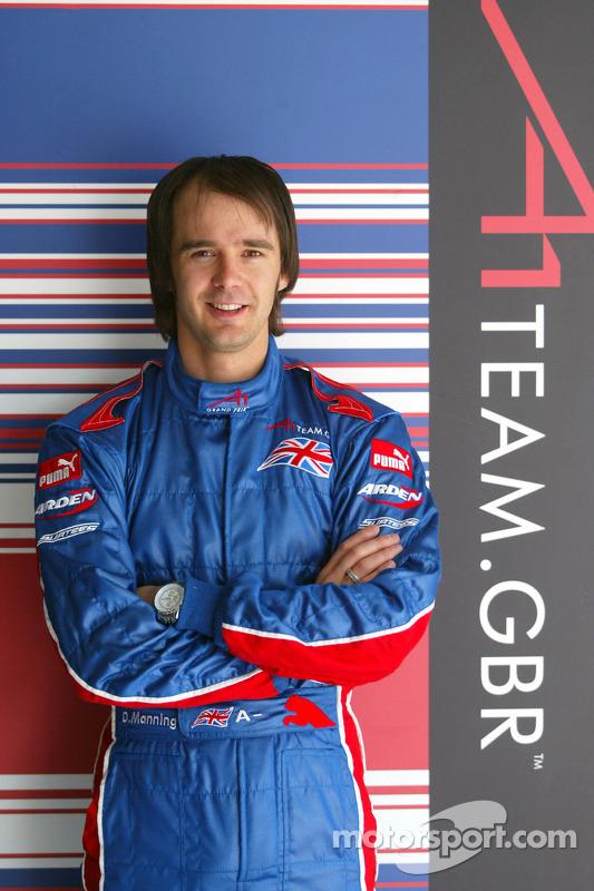 Darren Manning de l'équipe de Grande-Bretagne