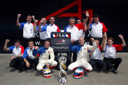 A1 Team France including Alexandre Premat (FRA) A1 Team France, Nicolas Lapierre (FRA) A1 Team France and Jean-Paul Driot (FRA) A1 Team France Team Manager celebrate their World Cup win with the World cup trophy