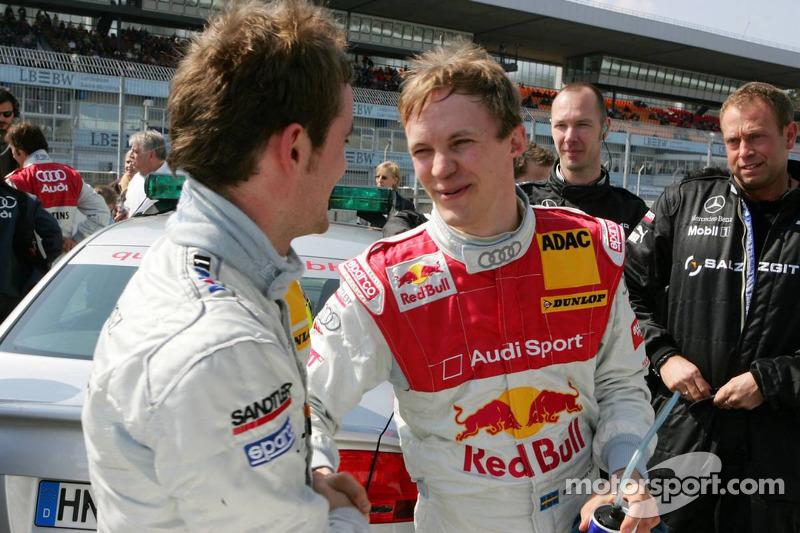 Mattias Ekström félicite Jamie Green