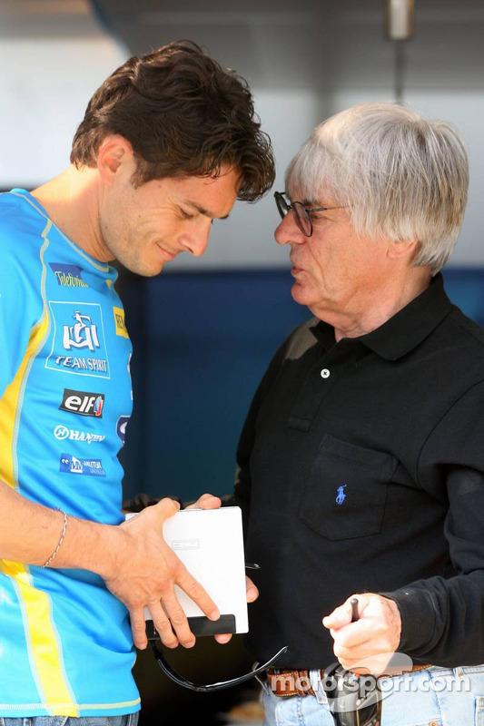 Giancarlo Fisichella et Bernie Ecclestone