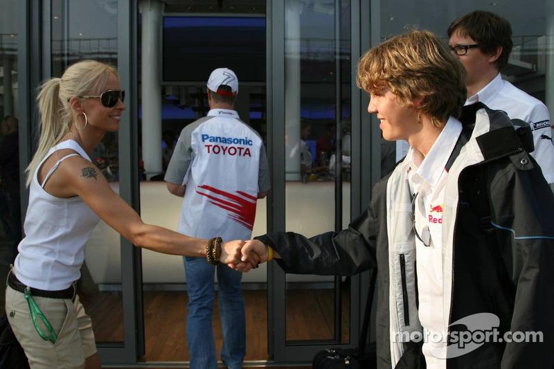 Cora Schumacher et Sebastian Vettel
