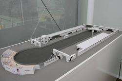 Scaled model of the BMW Sauber F1 Team 'Pitlane Park'