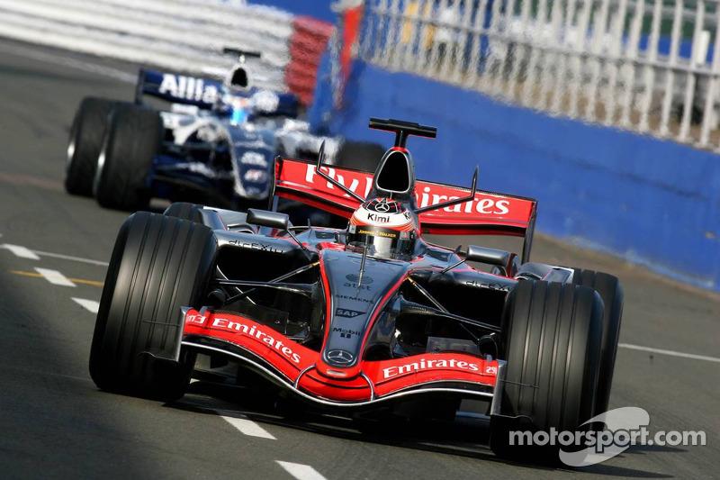 Kimi Raikkonen devance Nico Rosberg