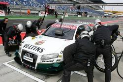 Entrainement aux arrêts aux stands pour Heinz-Harald Frentzen