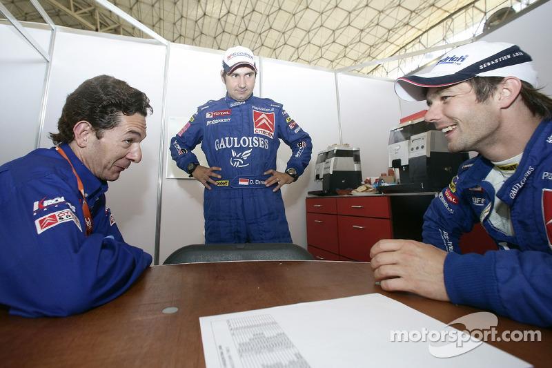 Marc Van Dalen, Daniel Elena et Sébastien Loeb
