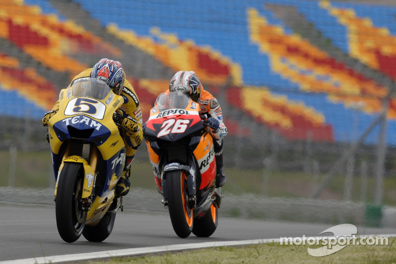 Colin Edwards et Dani Pedrosa