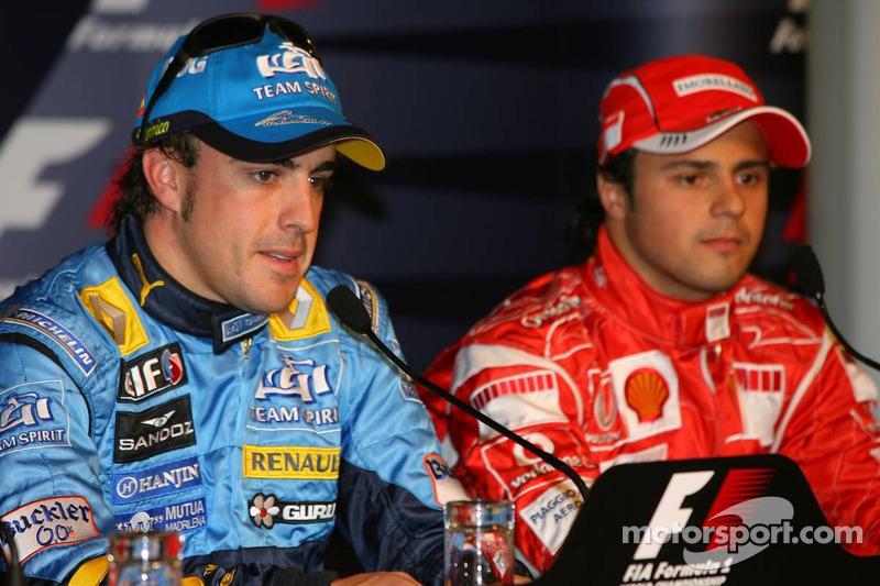 Conférence de presse: Fernando Alonso en pole position et Felipe Massa