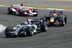Mark Webber leads Christian Klien and Ralf Schumacher
