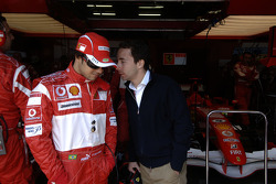 Felipe Massa and Nicolas Todt