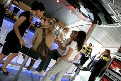 Formula Unas girls in the Red Bull Energy Station