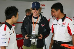 Takuma Sato, actor Owen Wilson promoting new animated film