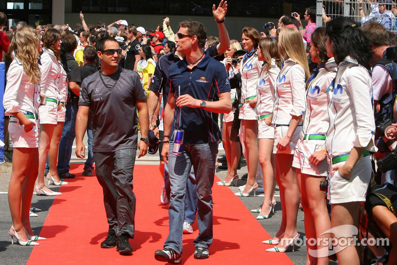 Juan Pablo Montoya y David Coulthard