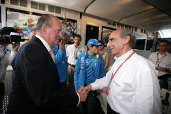 King of Spain Juan Carlos and Alain Dassas