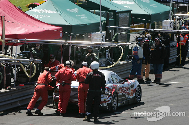 #51 Multimatic Motorsports Team Panoz Panoz Esperante GTLM: Gunnar Jeannette, Tom Milner dans le stand