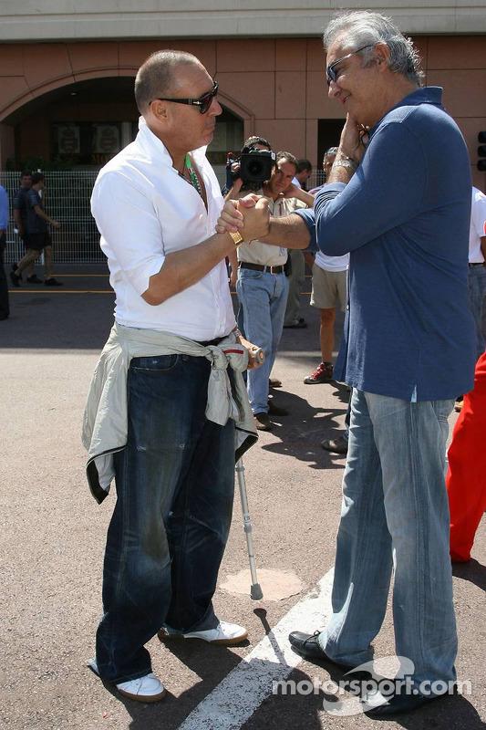 Michel Comte, photographe et Flavio Briatore