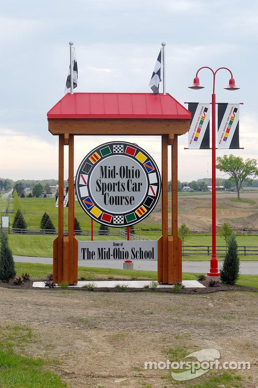L'entrée de devant de Mid-Ohio Sports Car Course