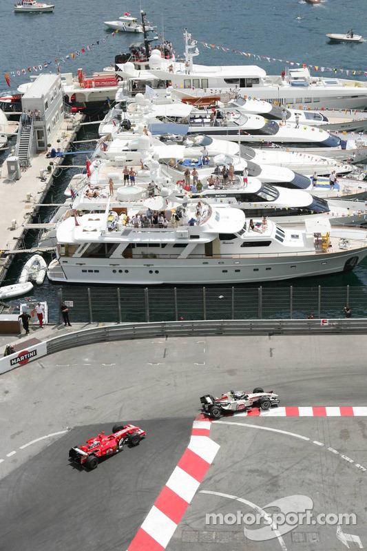 Jenson Button y Michael Schumacher