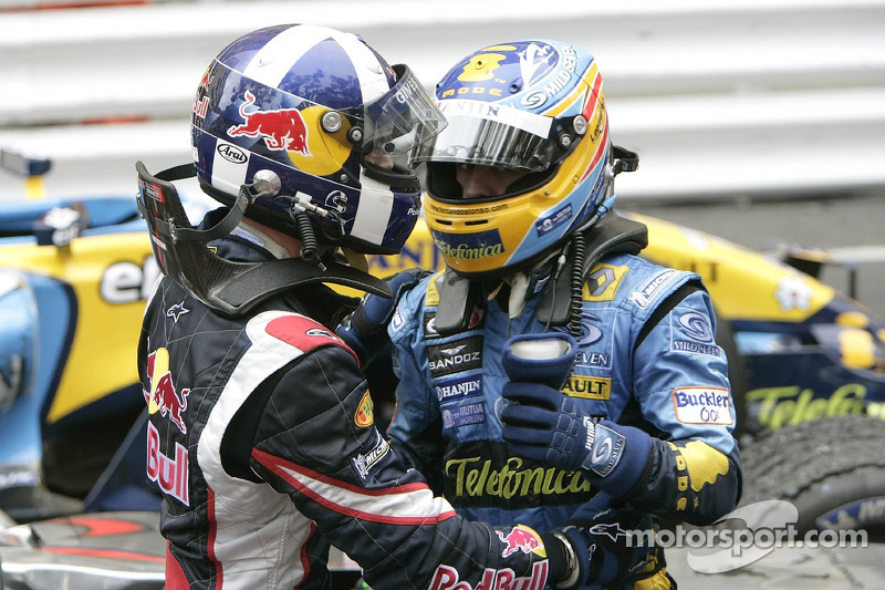 David Coulthard y Fernando Alonso