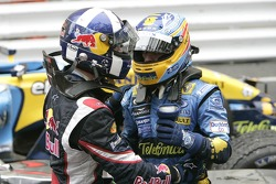 David Coulthard and Fernando Alonso