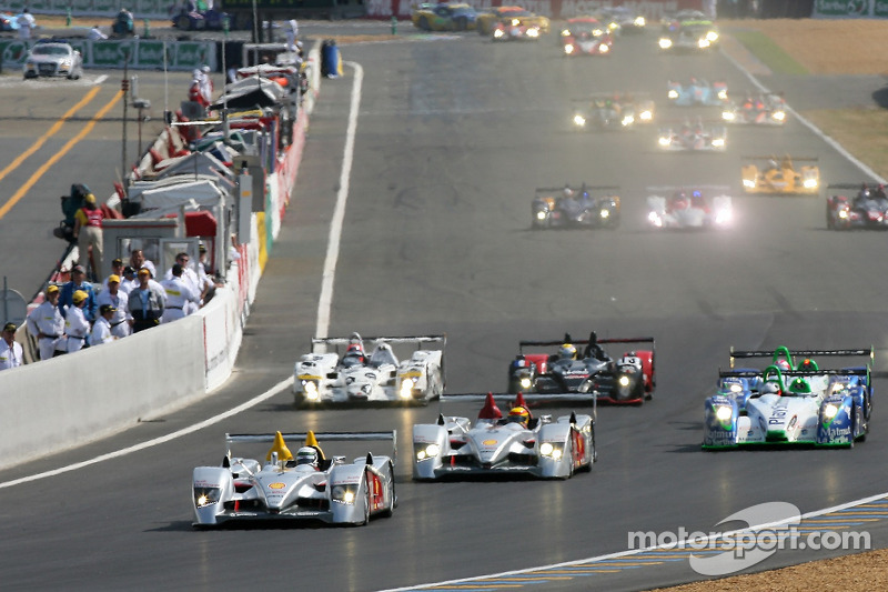 Départ: #7 Audi Sport Team Joest Audi R10: Allan McNish, Rinaldo Capello, Tom Kristensen