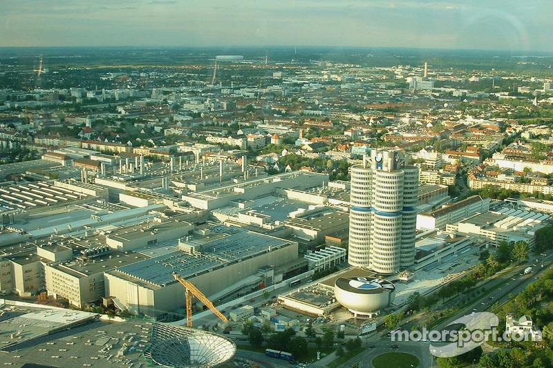 Vue de l'usine BMW à Munich