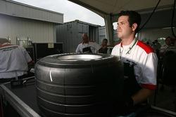 A Bridgestone team member at work