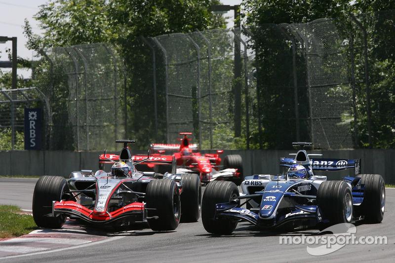 Juan Pablo Montoya et Nico Rosberg