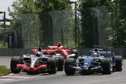 Juan Pablo Montoya and Nico Rosberg battle