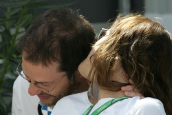 Jacques Villeneuve shares a moment with wife Joanna