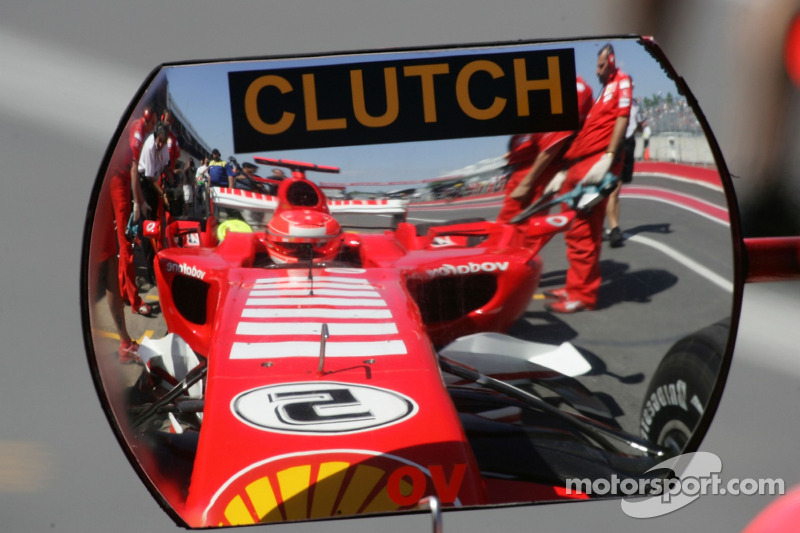 Reflejo de Michael Schumacher
