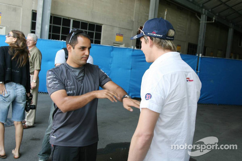 Juan Pablo Montoya et Scott Speed