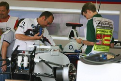 BMW Sauber F1 Team prepare the cars for the weekend