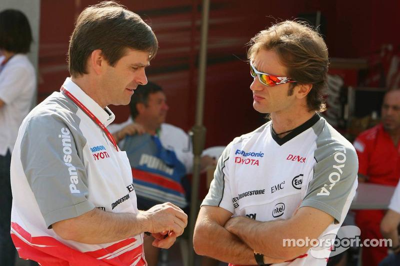 Pascal Vasselon, Toyota Racing, Directeur général de conception, avec Jarno Trulli