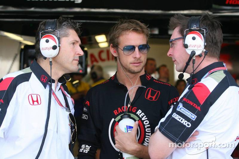 Nick Fry avec Jenson Button