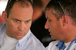 Roger Peters talks with Allard Kalff, Manager of Jeroen Bleekemolen