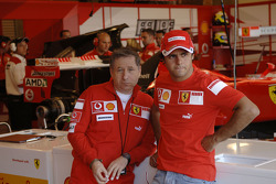 Jean Todt and Felipe Massa