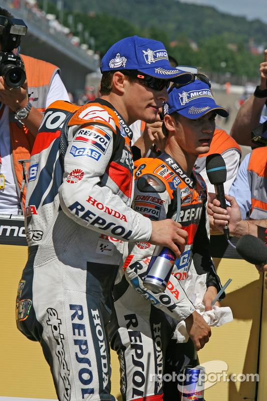 Nicky Hayden y Dani Pedrosa