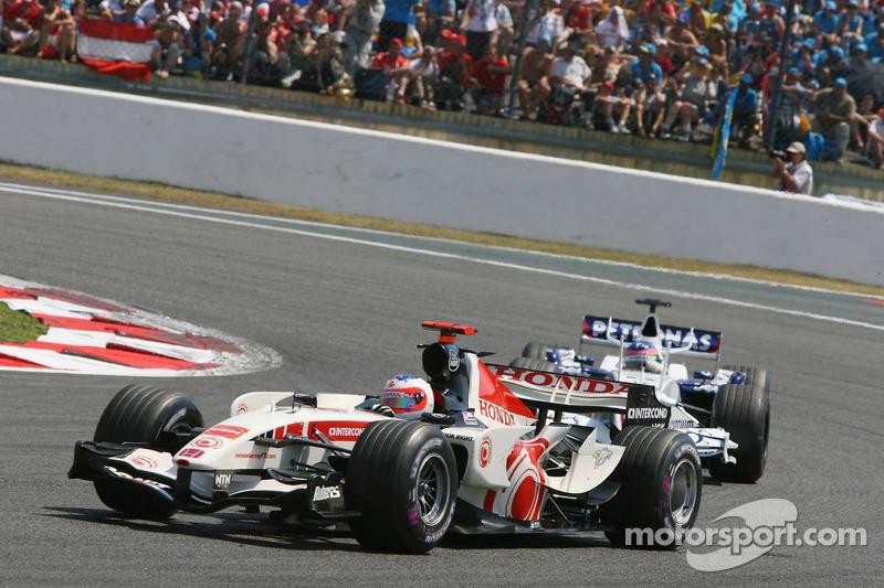 Rubens Barrichello et Jacques Villeneuve