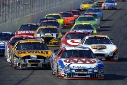 Mark Martin leads Matt Kenseth and Dale Jarrett