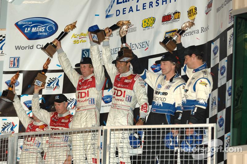Célébration du podium LMP1