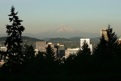 A view of downtown Portland from Washington Park