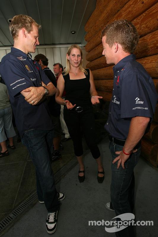 Evénement des fans de pilotes ALMS à Portland : Jorg Bergmeister, Liz Halliday et Patrick Long